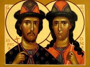 День благоверных князей Бориса и Глеба, во святом Крещении Романа и Давида (1015)