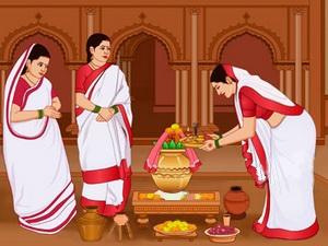 Kalparambha (Akal Bodhon, Amantran and Adhivas)